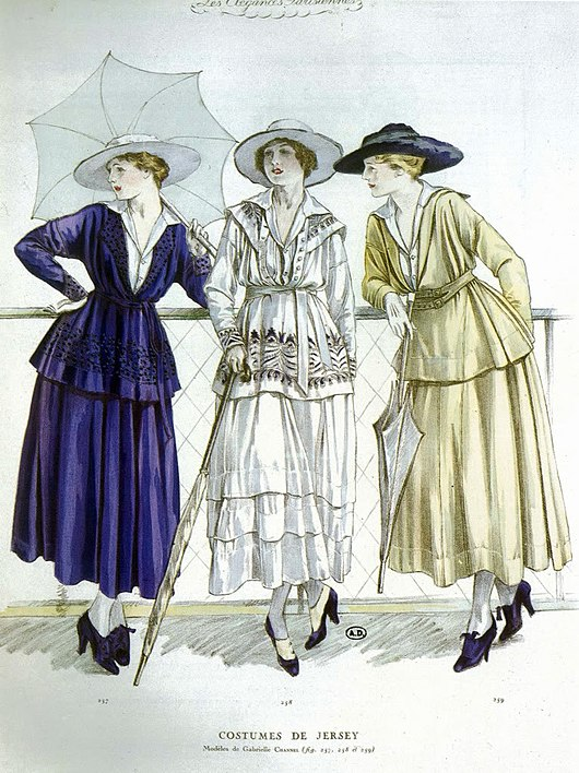 Datei:Chanel jersey casual wear 1917,.jpg