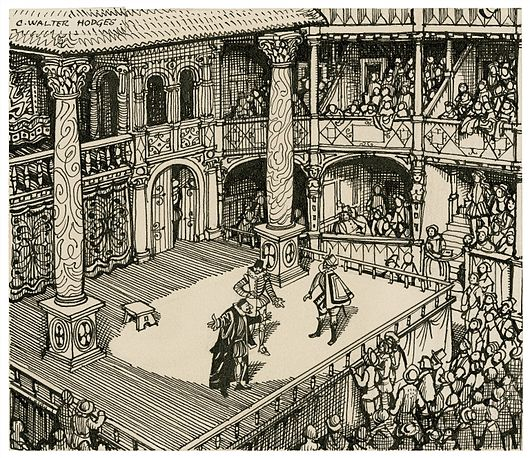 Datei:Imaginary view of an Elizabethan stage.jpg